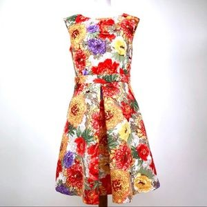 Danny & Nicole Floral Sleeveless Floral Dress 4
